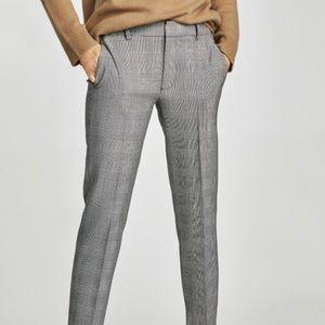 Zara Women Plaid Trouser Work Pants